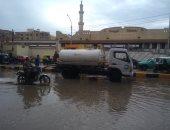 صور.. كيف تخلصت مجالس المدن بالمنوفية من مياه الأمطار