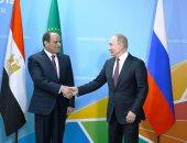 السيسى وبوتين يؤكدان ضرورة حل الأزمة السورية سياسيا
