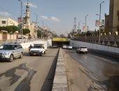 إعادة فتح نفق الثورة فى مصر الجديدة بعد شفط مياه الأمطار