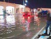 فيديو.. عاصفة رعدية تضرب الإسكندرية فجرًا