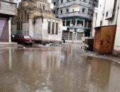 مياه الأمطار تحاصر المدارس وتغرق شوارع فارسكور بدمياط