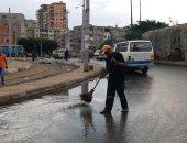 توقف هطول الأمطار وانحسار المياه من الشوارع بالإسكندرية .. صور
