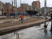 آثار الإسكندرية تشكل غرفة عمليات لرفع تراكمات الأمطار بالمواقع الأثرية