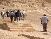 صور.. وفد إفريقى يزور منطقة آثار تل العمارنة بالمنيا