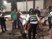 فيديو وصور.. رجال الداخلية يسيطرون مشاهد إنسانية في التعامل مع الأمطار بالشوارع