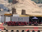 شاهد.. الأقصر تجهز موقع عروض أوبرا عايدة أمام معبد الملكة حتشبسوت