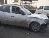 قارئ يشارك بصور حادث 4 سيارات ملاكى وميكروباص بالدائري نزله البحر الأعظم