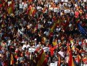 مظاهرات الدعوة إلى التعايش وإنهاء الانفصالية فى برشلونة