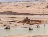"""""""مش كل السيول ضرر"""".. 20 ألف فدان جاهزة للزراعة بوسط سيناء بعد ارتوائها بمياه السيول والأمطار"""