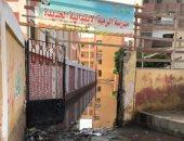 كسر ماسورة يتسبب فى غرق مدرسة الرملة الجديدة ببنها ونقل الطلاب لمدرسة مجاورة