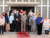 رئيس جامعة الأزهر يوصى طالبات كلية العلوم بالبعد عن الشائعات