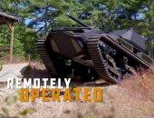 ابتكار دبابة روبوتية جديدة مزودة بذخيرة خارقة للدروع وطائرة بدون طيار