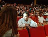 """فيديو وصور.. استقبال حافل من الجمهور لهند صبرى وفيلمها """"نورا تحلم"""" بأيام قرطاج"""
