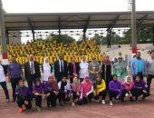 لجنة الكرة النسائية باتحاد الكرة فى جولة بالمنيا .. صور
