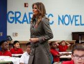 """ميلانيا ترامب على مقاعد الدراسة بمدرسة ابتدائية بولاية """"ساوث كارولينا"""""""