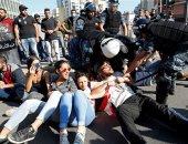 متظاهرو لبنان فى مسيرة احتجاجية بالدراجات البخارية لليوم الخامس عشر