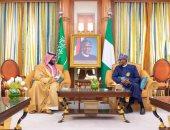 ولى العهد السعودى يلتقى الرئيس النيجيرى ويبحثان التعاون فى مجالات الطاقة