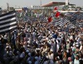 احتجاجات فى باكستان تطالب باستقالة رئيس الوزراء عمران خان