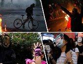 """صور..العالم هذا الصباح.. احتفالات مرعبة حول العالم بعيد """"الهالوين"""".. اشتباكات فى تشيلى تزامنا مع استمرار ثورة """"تذاكر المترو"""".. تجدد العنف فى بوليفيا احتجاجا على نتائج الانتخابات.. تواصل المتظاهرات فى هونج كونج"""
