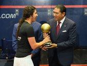 رئيس البنك التجاري الدولي يكرم أبطال مصر في بطولة CIB الدولية للاسكواش