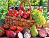 النظام الغذائى الصحى الغنى بالخضروات والفاكهة يقى من سن اليأس