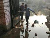 شكوى من غرق مدرسة الشوبك بمياه الصرف الصحى بالجيزة