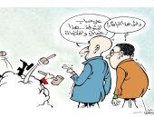 كاريكاتير جزائرى.. خناقة وزير العدل الجزائرى مع القضاة