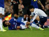 شاهد قدم أندريه جوميز بعد الإصابة الخطيرة فى مباراة إيفرتون ضد توتنهام