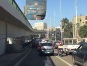 إغلاق مطلع كوبرى أكتوبر بمدينة نصر بسبب التكدس المرورى