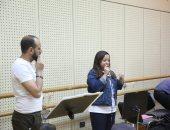 صور.. ريهام عبد الحكيم تجري بروفة حفلها بمهرجان الموسيقى