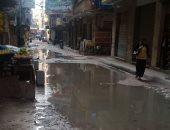 شكوى من استمرار غرق شارع الزهراء محرم بك بمياه الصرف الصحى