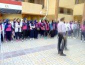 صور.. تنفيذ خطة إخلاء على الكوارث بمدرستين بالقاهرة