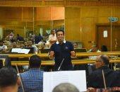 صور.. محمد ثروت يجرى بروفات حفل الموسيقى العربية قبل إقامته الأحد المقبل