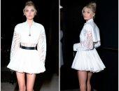 """ملاك """"فيكتوريا سيكريت"""".. عارضة الأزياء """"إلسا"""" بفستان أبيض قصير بعيد ميلادها"""
