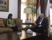 """رئيس """"الأعلى للإعلام"""" يستقبل وزيرة الهجرة لبحث أوجه التعاون"""