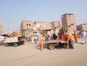 رفع وإزالة 725 حالة إشغال وتحرير 23 محضر فى حملة ببنى سويف