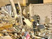 تفاصيل انهيار واجهة مبنى فى الدمام بالسعودية وإصابة 13 شخصاً.. فيديو