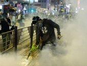 تزايد حدة العنف بين المحتجين وقوات الأمن فى هونج كونج