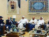 الأمير فهد بن عبد الله يستقبل الفنان يحيى الفخرانى وأسرة الملك لير