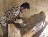 وصول توابيت خبيئة العساسيف للمتحف المصري الكبير