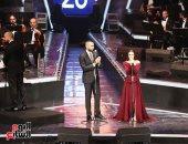 """الشرنوبى وكارمن سليمان يتألقان بـ ديو """"على اللى جرى"""" بمهرجان الموسيقى العربية"""