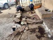 صور.. آثار إطلاق مجهول النار على خفرين ومزارع بقرية كفر الحصافة فى طوخ