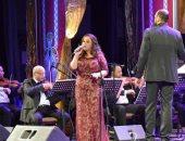 ريهام عبد الحكيم تشعل ختام مهرجان الموسيقى العربية  بأوبرا دمنهور
