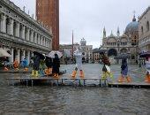 """الأمطار تُغرق """"البندقية"""" فى موجة طقس سئ تضرب إيطاليا.. (صور)"""