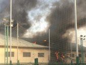 اندلاع حريق بمركب نيلى أثناء صيانته بالحوامدية والدفع بـ4 سيارات إطفاء