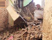 انهيار منزل قديم بشبين القناطر دون خسائر بشرية بسبب الطقس السيئ