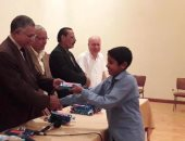 تكريم الطلاب الفائزين بمسابقة المولد النبوي الشريف  بشمال سيناء