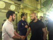 فيديو وصور.. شيكابلا وأوباما وسويلم يقدمون واجب العزاء فى علاء علي