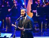 """محمد الشرنوبى يختتم حفله بأغنية فيلم """"الممر"""" بمهرجان الموسيقى الـ28"""