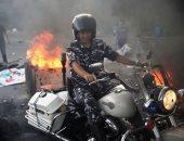 اشتباكات وشغب ومواجهات بين المتظاهرين اللبنانيين وقوى الأمن غربى بيروت
